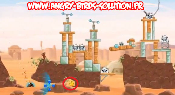 Solution du Golden Droid #2 d'Angry Birds Star Wars