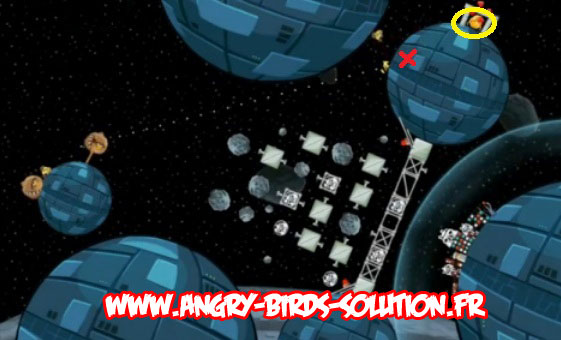 Solution du Golden Droid #5 (Angry Birds Star Wars)